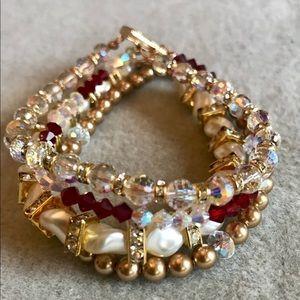 Jewelry - Gold fill Bracelet made w Swarovski Elements